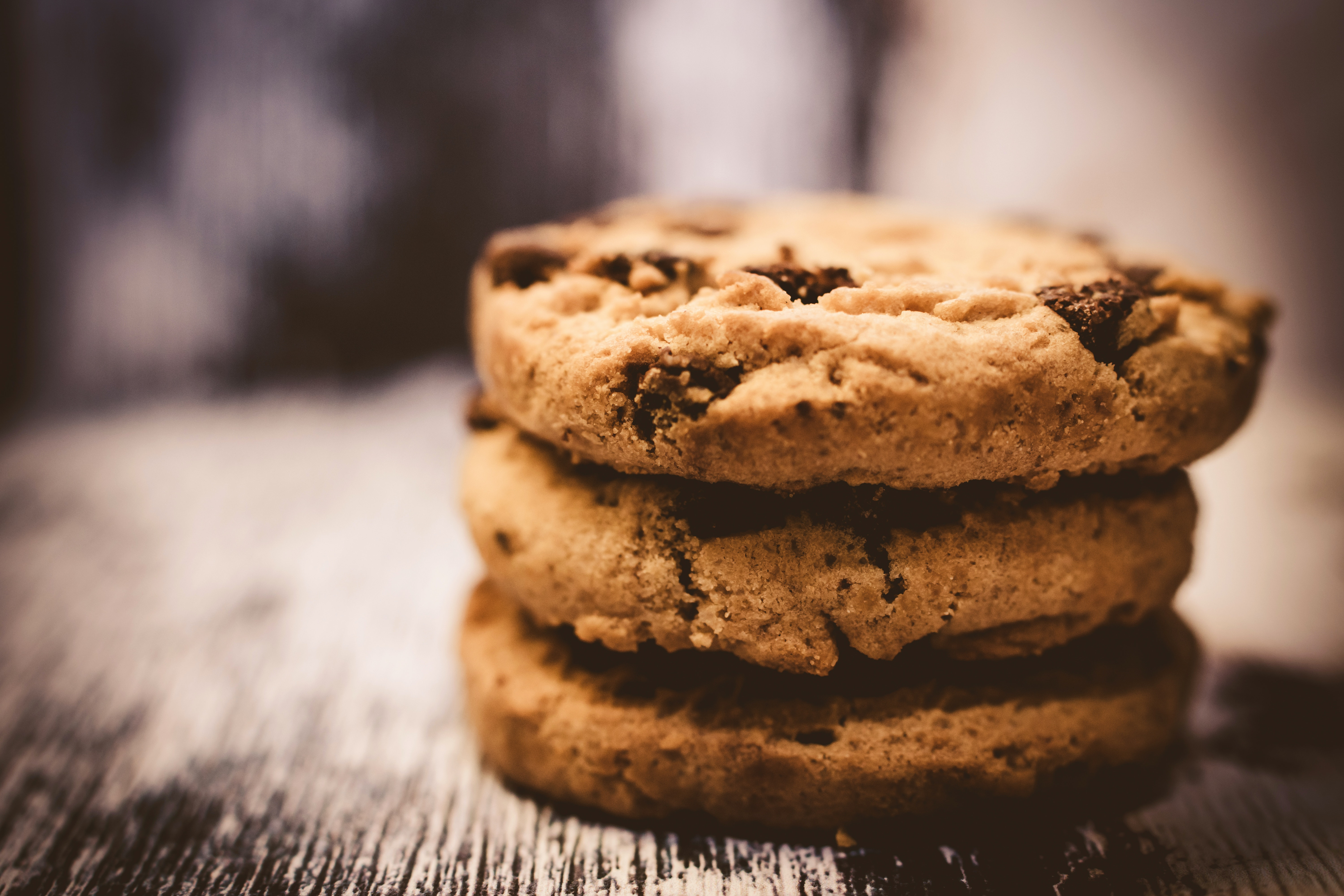 stack of three cookies